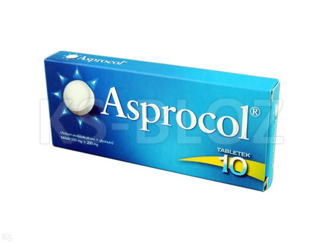Asprocol interakcje ulotka tabletki 0,5g+0,2g 10 tabl.