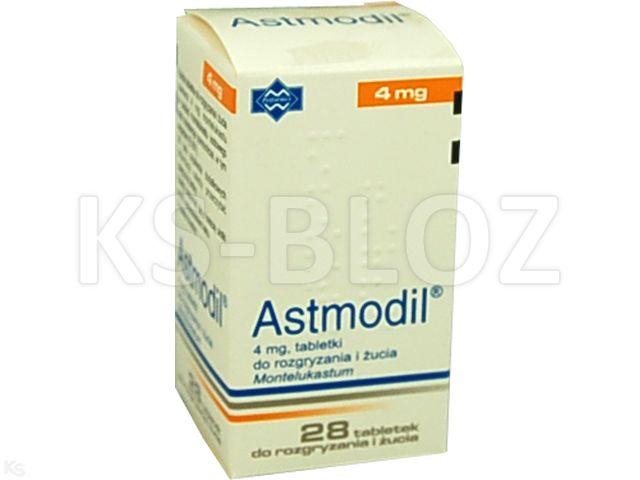 Astmodil interakcje ulotka tabletki do rozgryzania i żucia 4 mg 28 tabl.