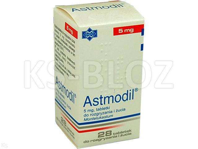 Astmodil interakcje ulotka tabletki do rozgryzania i żucia 5 mg 28 tabl.