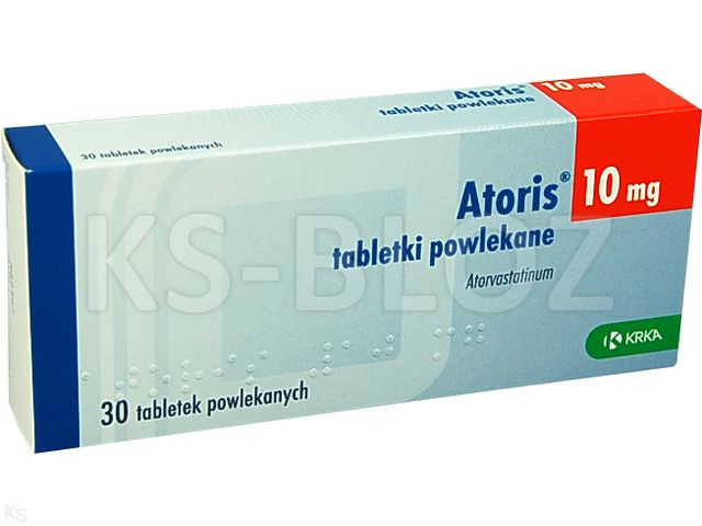 Atoris interakcje ulotka tabletki powlekane 0,01 g 30 tabl.