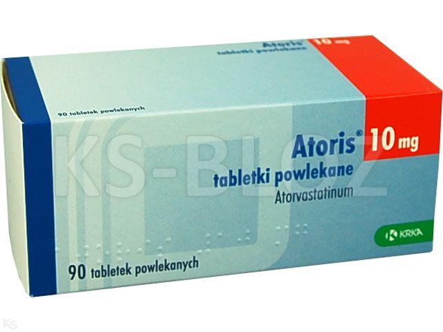 Atoris interakcje ulotka tabletki powlekane 0,01 g 90 tabl.