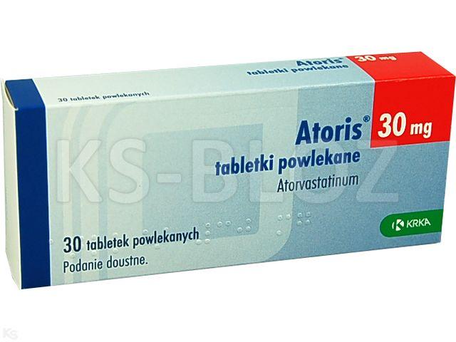 Atoris interakcje ulotka tabletki powlekane 0,03 g 30 tabl.