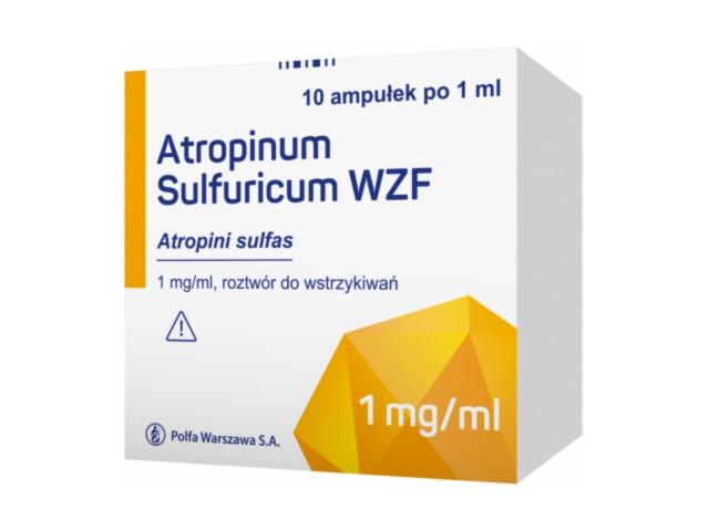 Atropinum sulfuricum WZF interakcje ulotka roztwór do wstrzykiwań 1 mg/ml 10 amp. po 1 ml