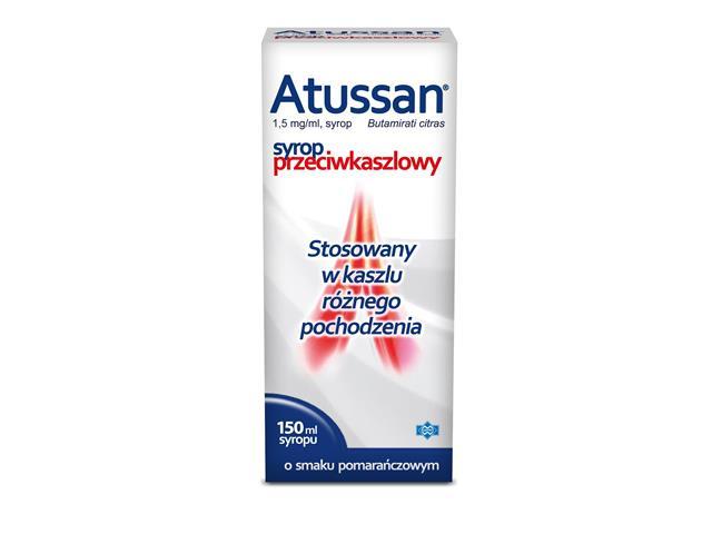 Atussan interakcje ulotka syrop 1,5 mg/ml 150 ml