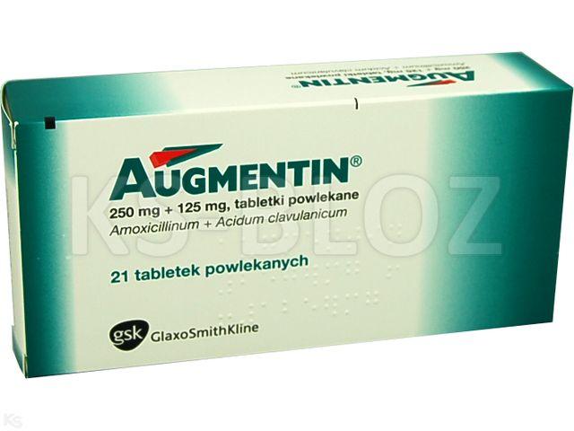 Augmentin interakcje ulotka tabletki powlekane 0,25g+0,125g 21 tabl.