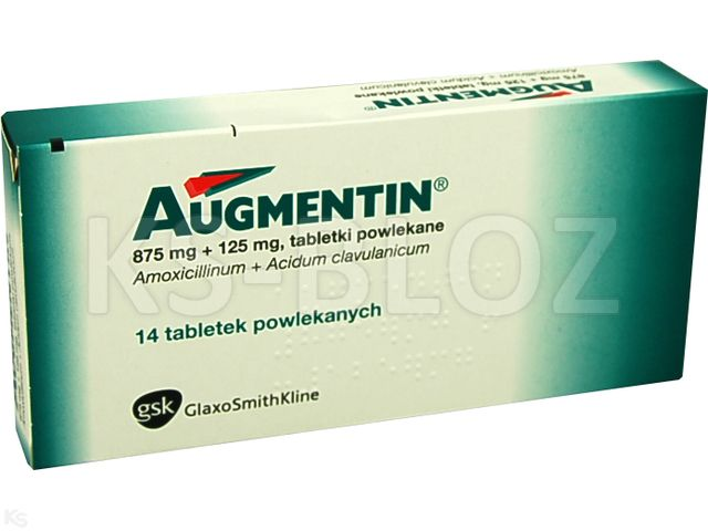 Augmentin interakcje ulotka tabletki powlekane 0,875g+0,125g 14 tabl. | 2 blist.po 7 szt.