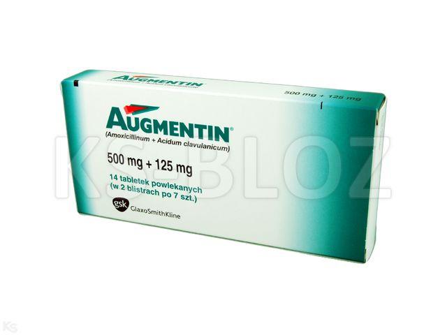 Augmentin interakcje ulotka tabletki powlekane 0,5g+0,125g 14 tabl.