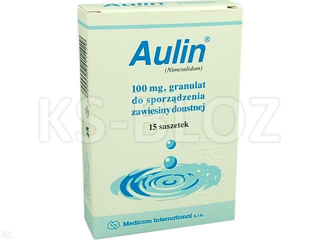 Aulin interakcje ulotka granulat do przygotowania zawiesiny doustnej 0,1 g 15 sasz. po 2 g