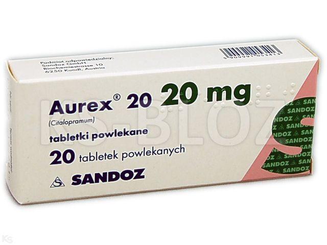 Aurex 20 interakcje ulotka tabletki powlekane 0,02 g 20 tabl.