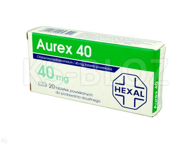 Aurex 40 interakcje ulotka tabletki powlekane 0,04 g 20 tabl.