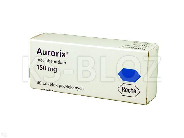 Aurorix interakcje ulotka tabletki powlekane 0,15 g 30 tabl.