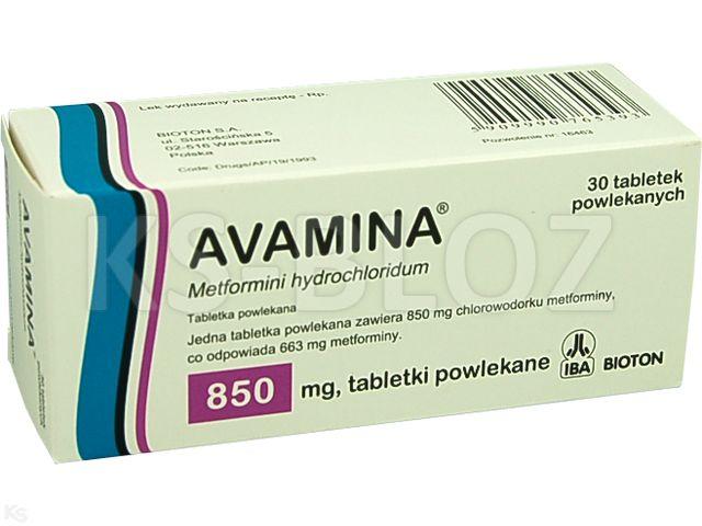 Avamina interakcje ulotka tabletki powlekane 0,85 g 30 tabl.