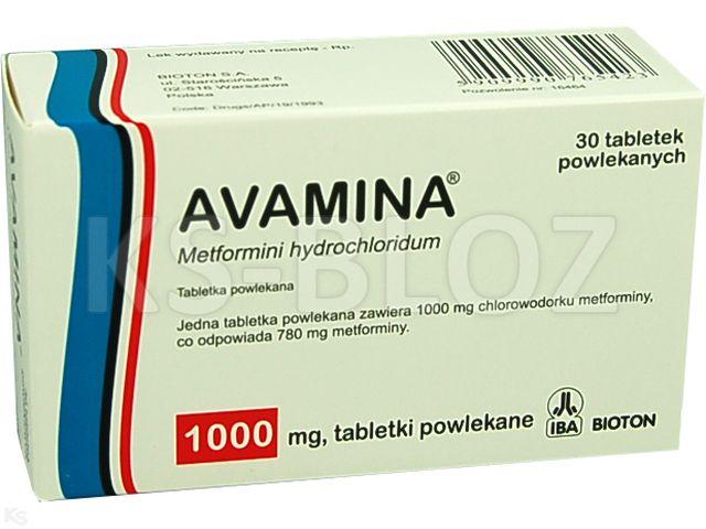 Avamina interakcje ulotka tabletki powlekane 1 g 30 tabl.