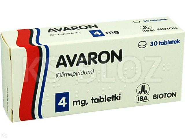Avaron interakcje ulotka tabletki 4 mg 30 tabl.
