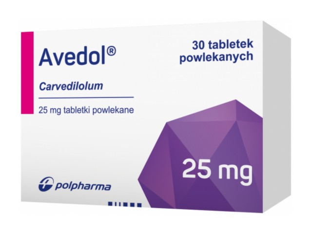 Avedol interakcje ulotka tabletki powlekane 0,025 g 30 tabl.