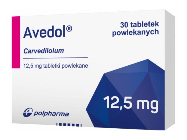 Avedol interakcje ulotka tabletki powlekane 0,0125 g 30 tabl.