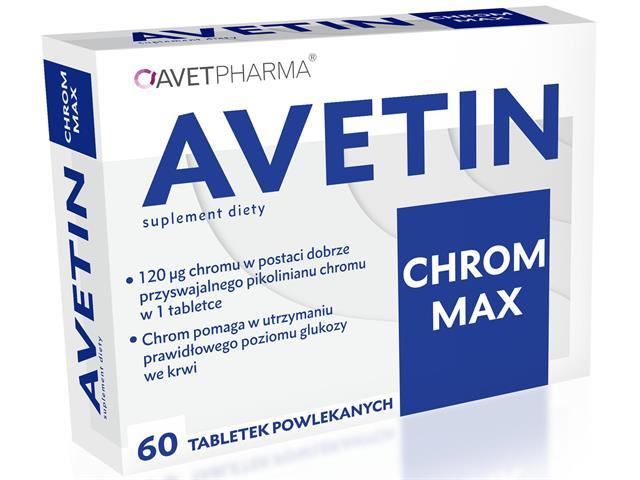 Avet Chrom Max interakcje ulotka tabletki  60 tabl.