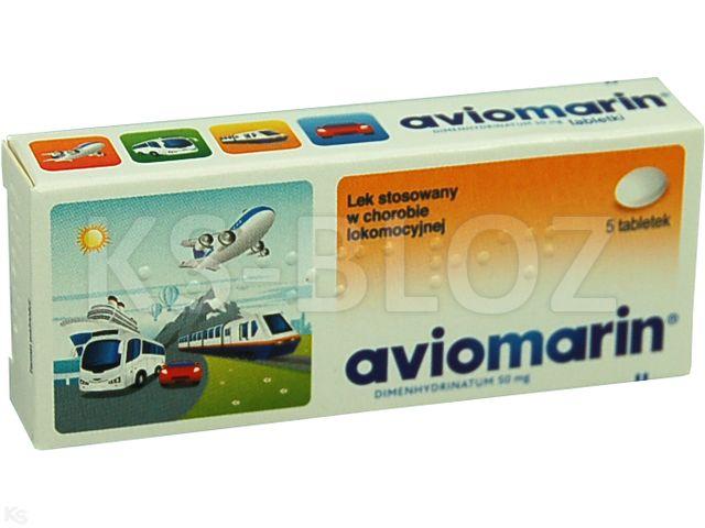 Aviomarin interakcje ulotka tabletki 0,05 g 5 tabl.