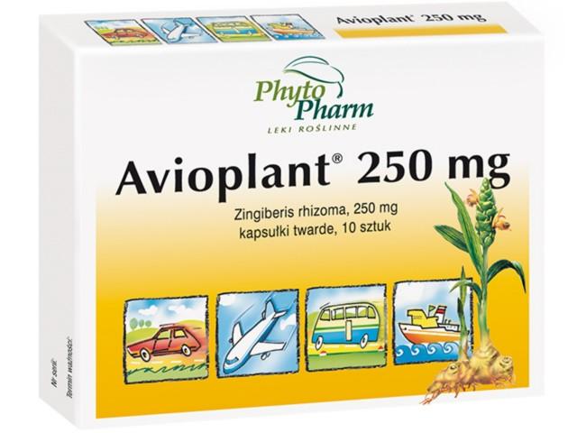 Avioplant 250 mg interakcje ulotka kapsułki twarde 0,25 g 10 kaps.
