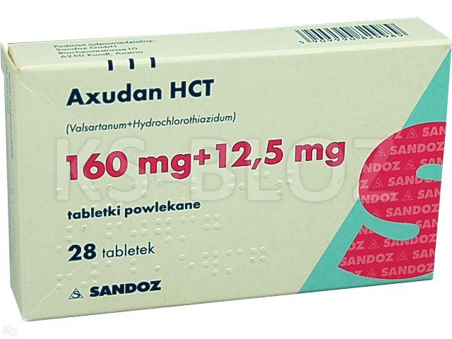 Axudan HCT interakcje ulotka tabletki powlekane 0,16g+0,025g 28 tabl.