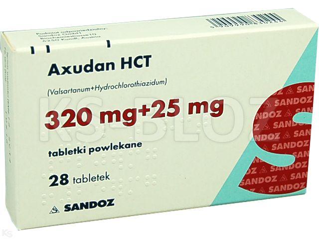 Axudan HCT interakcje ulotka tabletki powlekane 0,32g+0,025g 28 tabl.