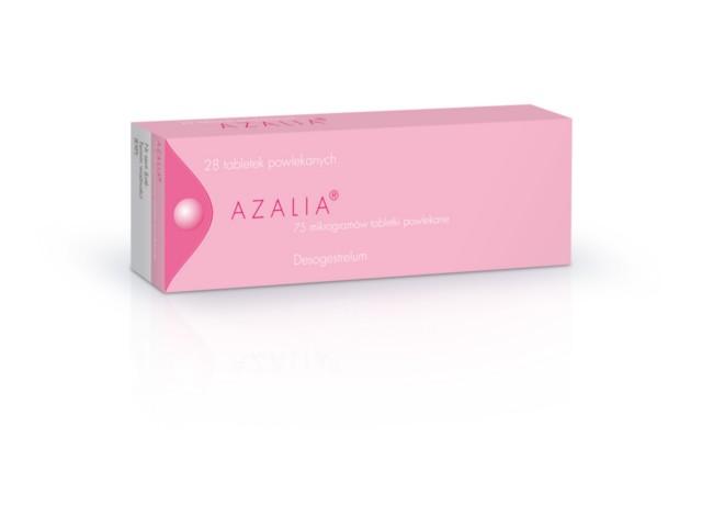 Azalia interakcje ulotka tabletki powlekane 0,075 mg 28 tabl.