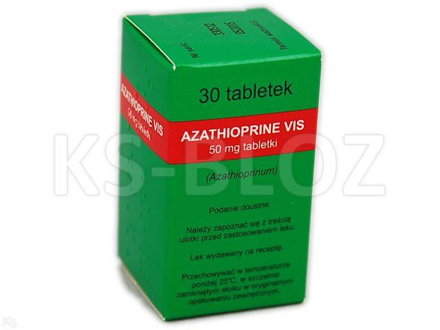 Azathioprine Vis interakcje ulotka tabletki 0,05 g 30 tabl.