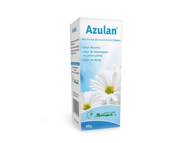 Azulan interakcje ulotka płyn do stosowania na skórę i błony śluzowe  90 g