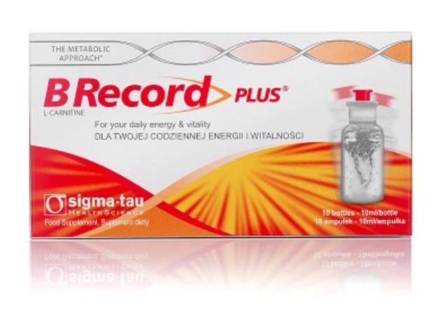 B Record Plus interakcje ulotka płyn doustny 10 ml 10 amp. po 10 ml