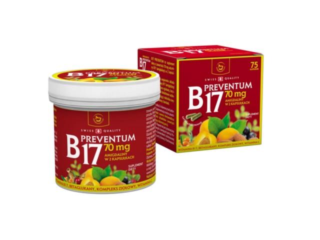 B17 PREVENTUM interakcje ulotka kapsułki  75 kaps.