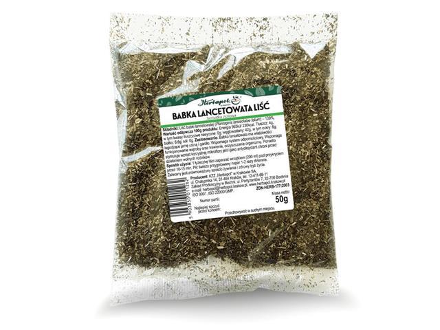 BABKA LANCETOWATA LIŚĆ Herbatka ziołowa interakcje ulotka herbata  50 g