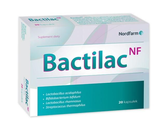 Bactilac NF interakcje ulotka kapsułki  20 kaps.