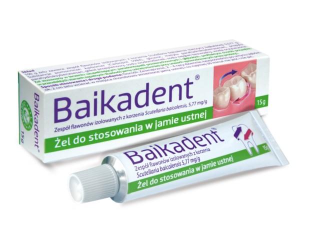 Baikadent interakcje ulotka żel do stosowania w jamie ustnej 5,77 mg/g 15 g