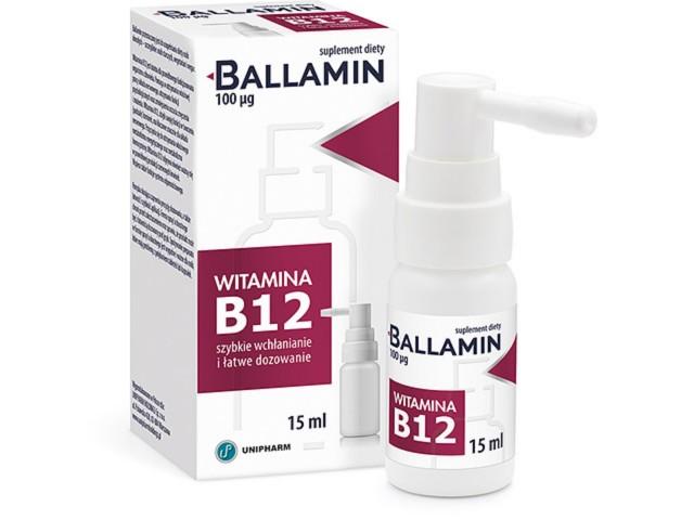 Ballamin interakcje ulotka aerozol doustny  15 ml