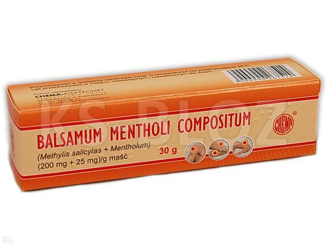 Balsamum Mentholi Compositum interakcje ulotka maść (0,2g+0,025g)/g 30 g