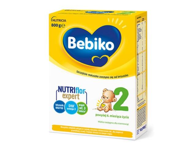 Bebiko 2 Mleko pow.6 m-ca interakcje ulotka proszek  800 g