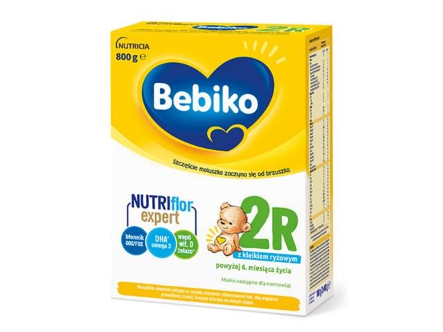 Bebiko 2 R Mleko pow.6 m-ca interakcje ulotka proszek  800 g