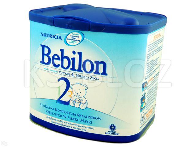 Bebilon 2 /od 5 mies./ interakcje ulotka proszek  400 g