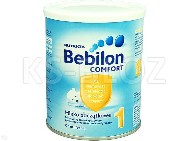 Bebilon COMFORT 1 interakcje ulotka proszek  400 g