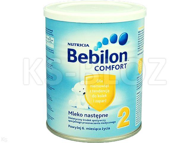 Bebilon COMFORT 2 interakcje ulotka proszek  400 g