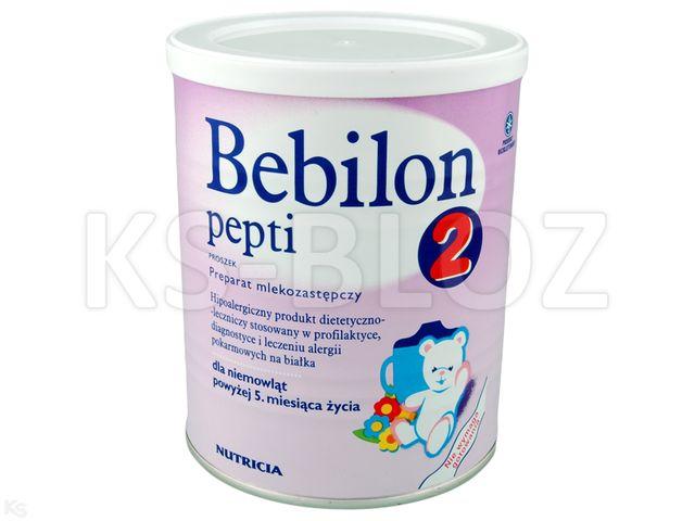 Bebilon PEPTI 2 interakcje ulotka proszek  450 g