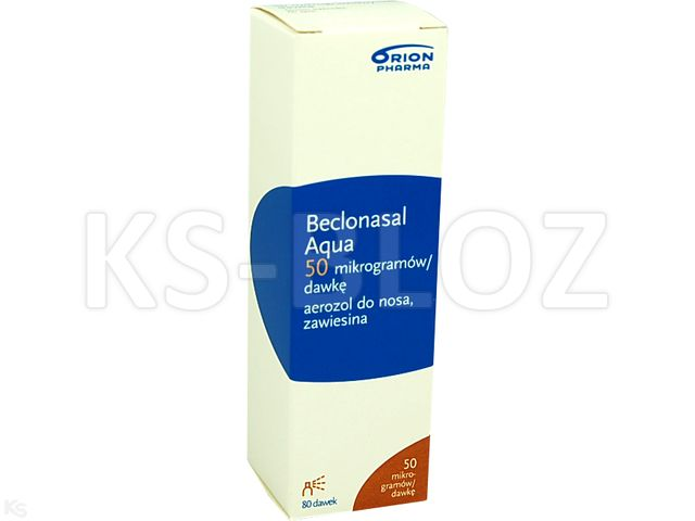 Beclonasal Aqua interakcje ulotka aerozol do nosa, zawiesina 0,05 mg/daw. 1 poj. po 80 daw.