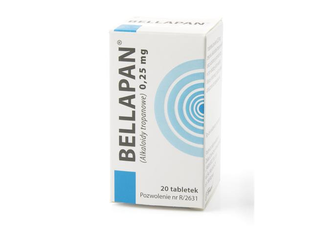 Bellapan interakcje ulotka tabletki 0,25 mg 20 tabl.