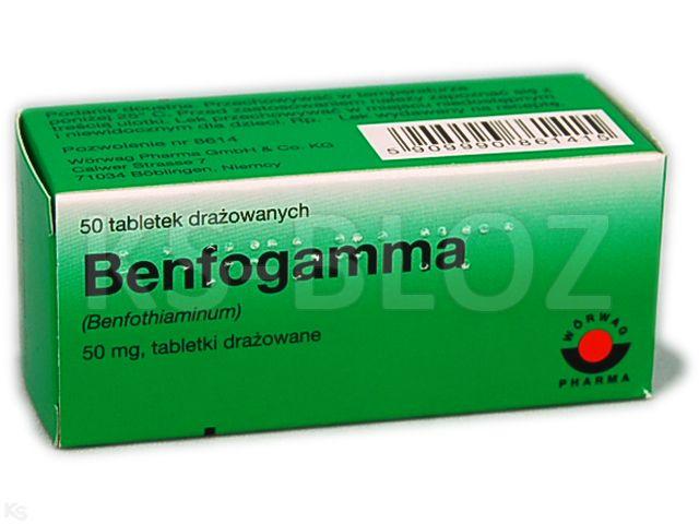 Benfogamma interakcje ulotka tabletki drażowane 0,05 g 50 draż.