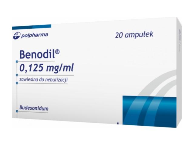 Benodil interakcje ulotka zawiesina do nebulizacji 0,125 mg/ml 20 amp. po 2 ml
