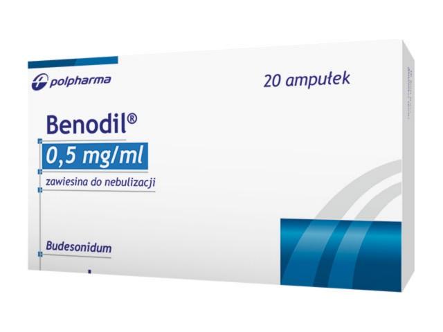 Benodil interakcje ulotka zawiesina do nebulizacji 0,5 mg/ml 20 amp. po 2 ml