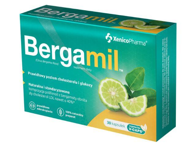 Bergamil interakcje ulotka kapsułki z roślinnej celulozy  30 kaps. | 3 blist.po 10 szt.