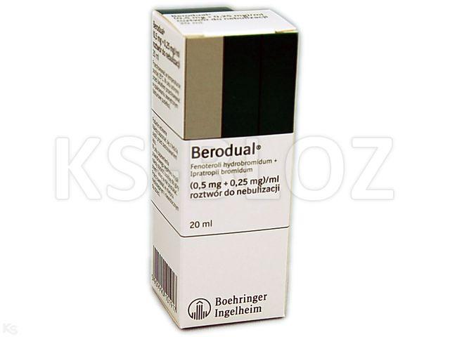 Berodual interakcje ulotka roztwór do nebulizacji (0,5mg+0,25mg)/ml 20 ml