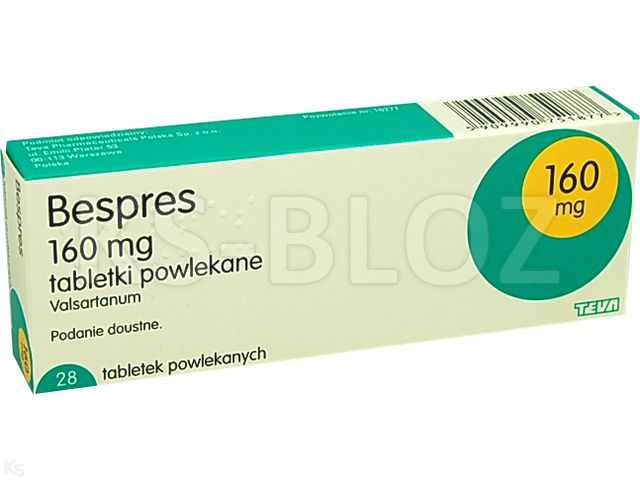 Bespres interakcje ulotka tabletki powlekane 0,16 g 28 tabl.