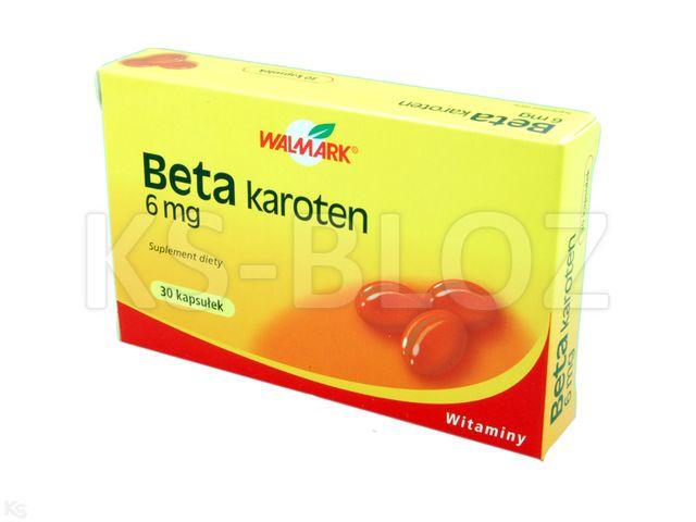 Beta-Karoten 6 mg interakcje ulotka kapsułki  30 kaps.